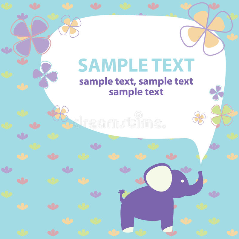 Carta di vettore con l'elefante illustrazione di stock