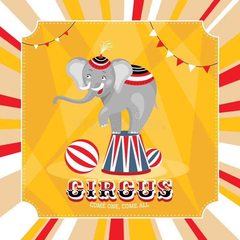 Carta di vettore con l'elefante royalty illustrazione gratis