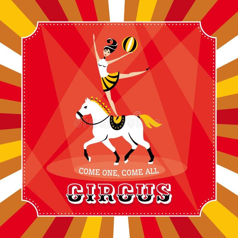 Carta di vettore del circo royalty illustrazione gratis