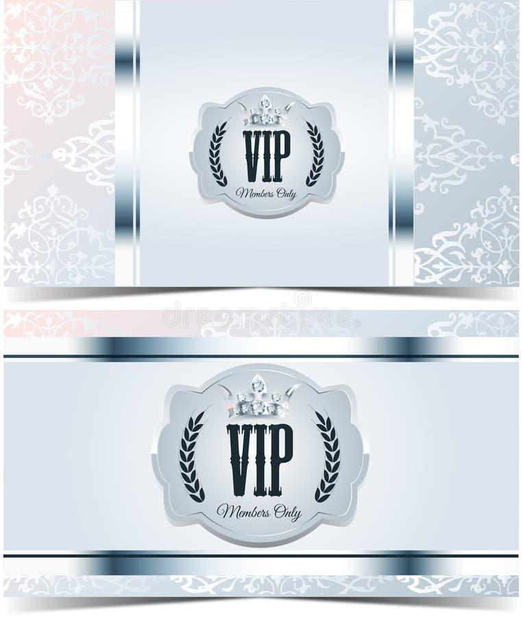 Carta di VIP Fondo d'argento Qualità di premio royalty illustrazione gratis