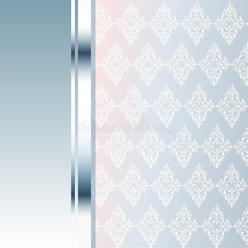 Carta di VIP Fondo d'argento Qualità di premio illustrazione di stock
