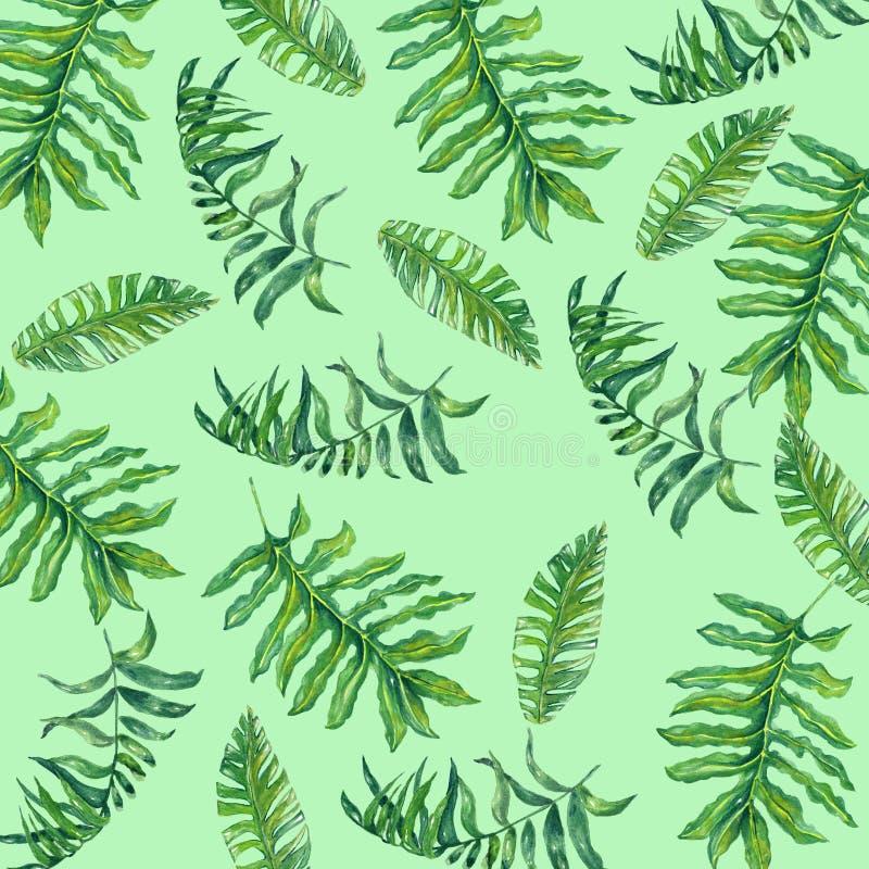 Carta digitale del fiore tropicale illustrazione vettoriale