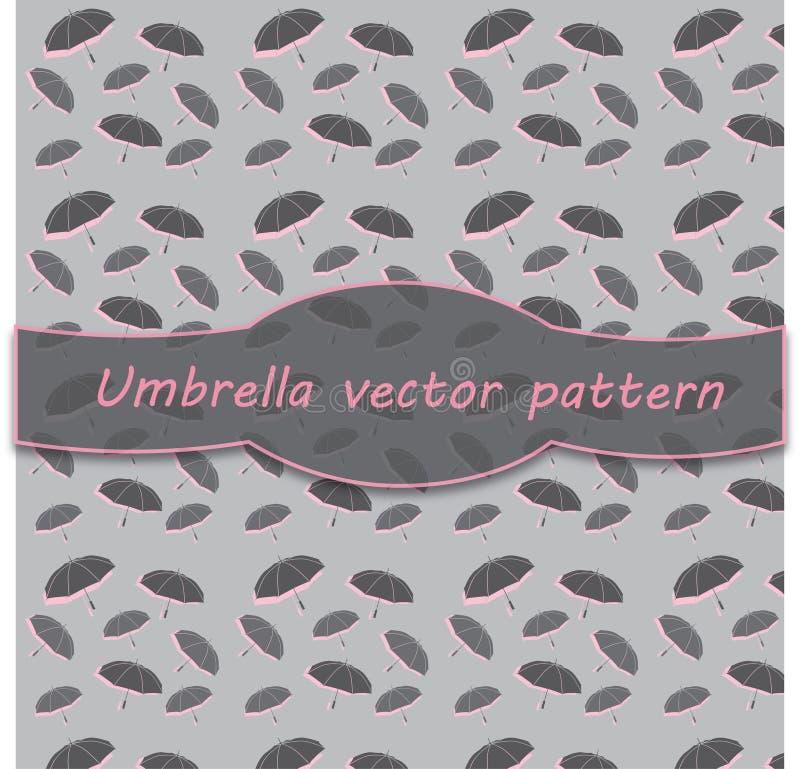 Carta digitale del modello dell'ombrello per l'album per ritagli illustrazione vettoriale