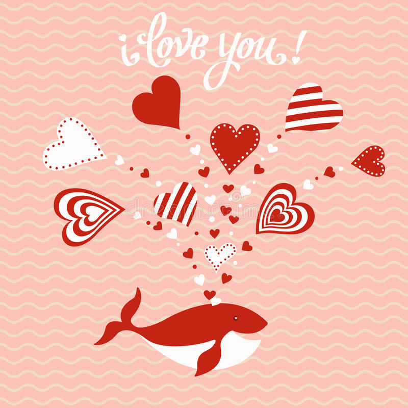 Carta disegnata a mano sveglia di giorno del ` s del biglietto di S. Valentino royalty illustrazione gratis