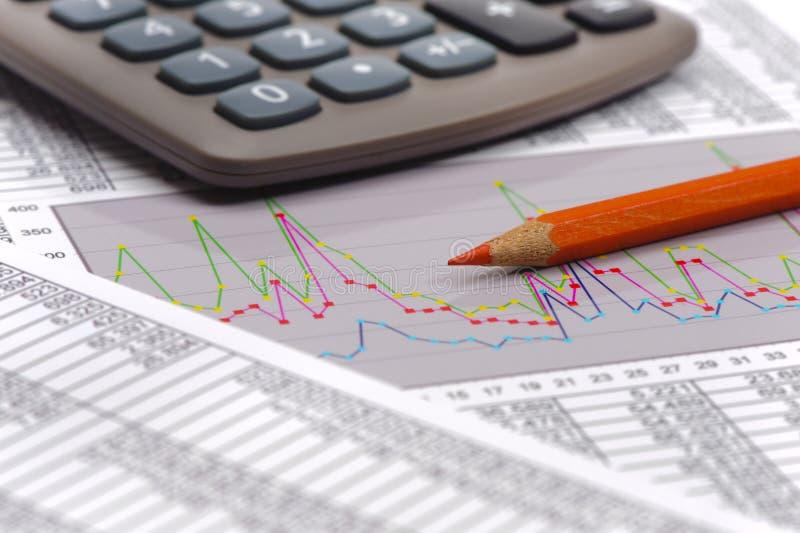 Carta do cálculo financeiro do orçamento imagem de stock royalty free