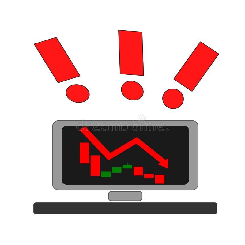 Carta do castiçal do mercado de valores de ação bearish ilustração do vetor