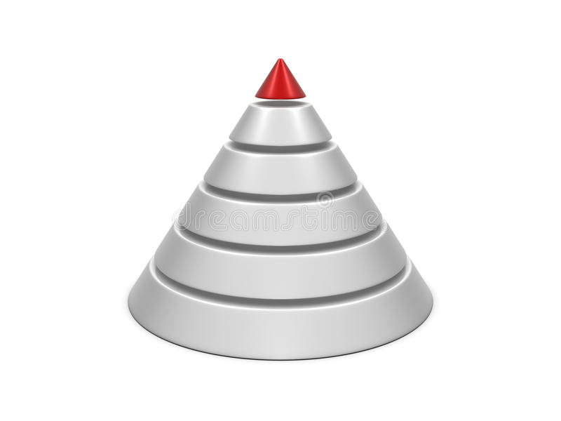 Carta do cone vermelho-branca ilustração royalty free