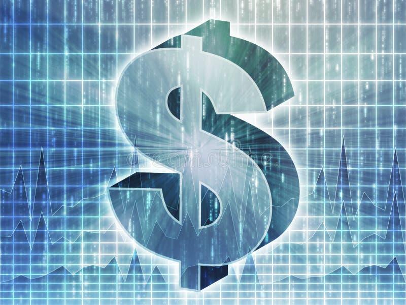 Carta do dólar americano ilustração stock