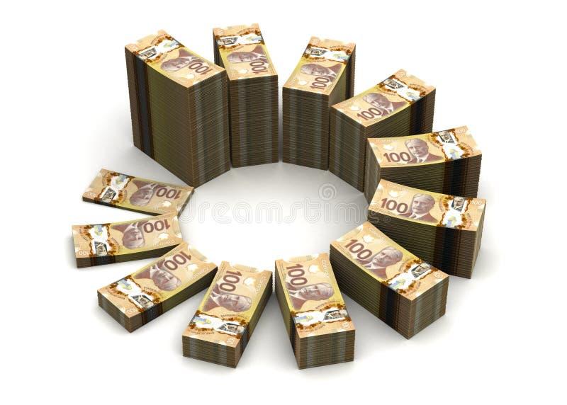 Carta do dólar canadense ilustração royalty free