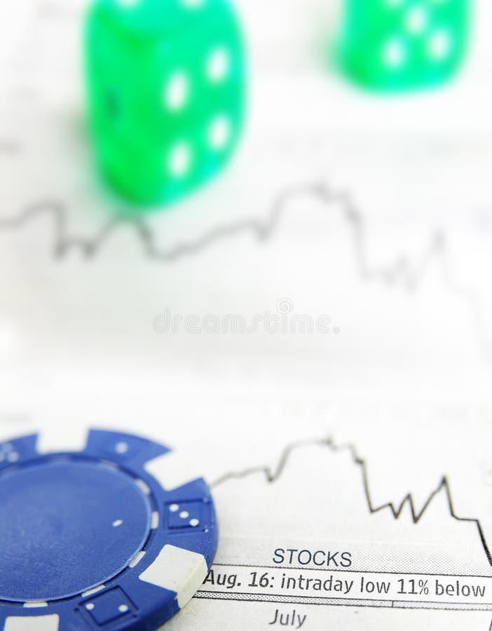 Carta do estoque da Blue Chip imagem de stock royalty free