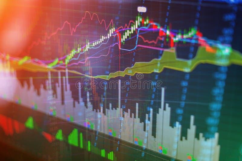 Carta do gráfico da vara da vela do mercado de valores de ação fotografia de stock royalty free