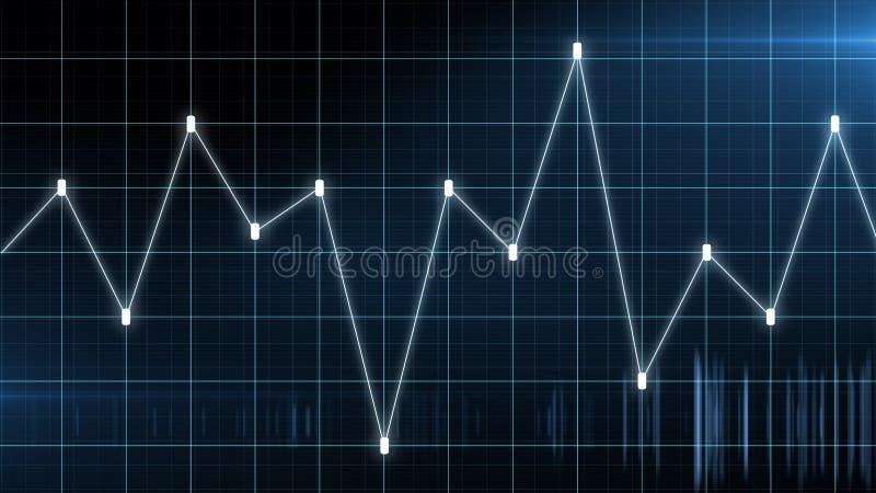 Carta do gráfico de negócio do lucro e da perda de troca do investimento do mercado de valores de ação Carta financeira com ascen ilustração do vetor