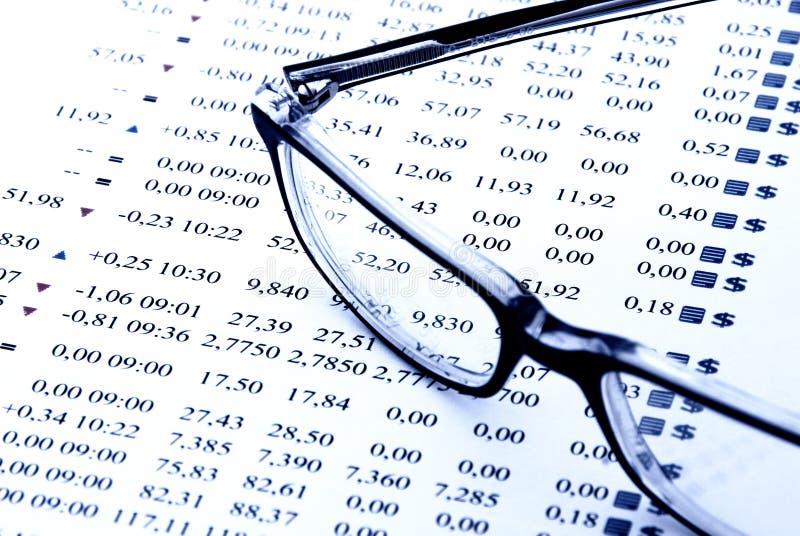 Carta do mercado de valores de acção foto de stock royalty free