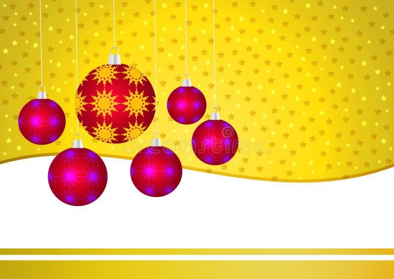 Carta dorata di Natale illustrazione di stock