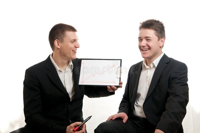 Carta dos homens de negócios fotos de stock