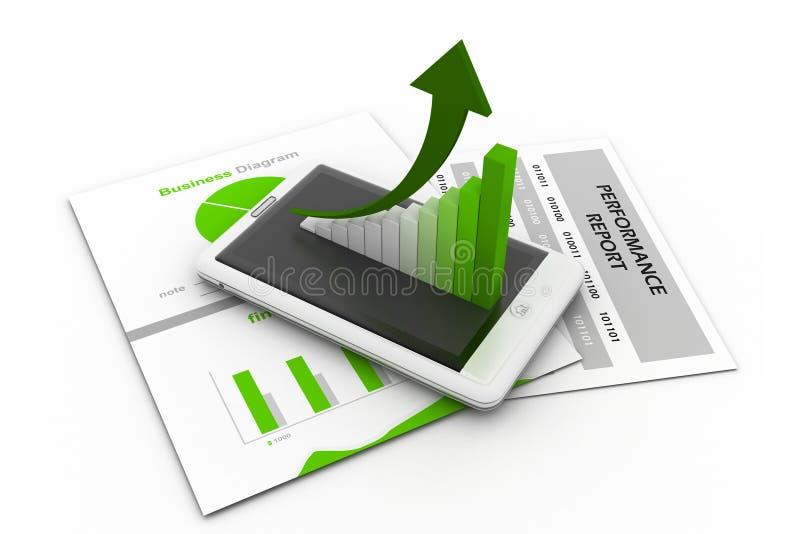Carta e gráfico de negócio ilustração do vetor