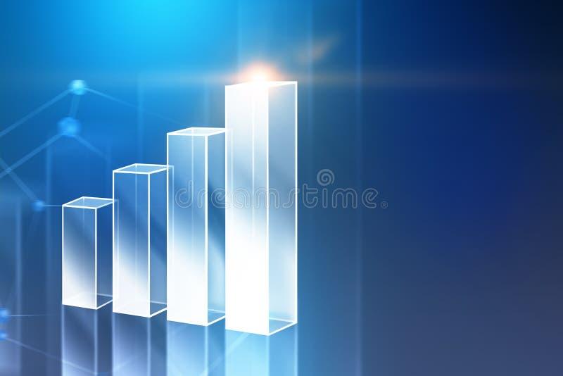 Carta e rede de barra de prata sobre o azul imagem de stock royalty free