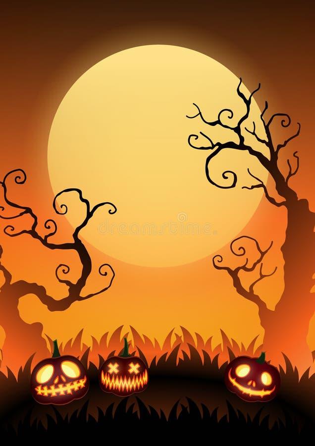 Carta ENV 10 del manifesto dell'insegna di Halloween illustrazione vettoriale