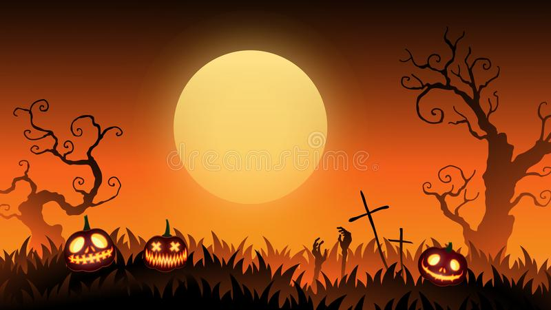 Carta ENV 10 del manifesto dell'insegna del sito Web di Halloween royalty illustrazione gratis