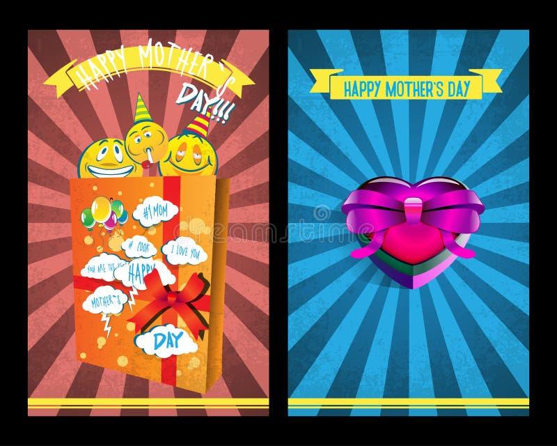 Carta ENV 10 di giorno del ` s della madre illustrazione vettoriale