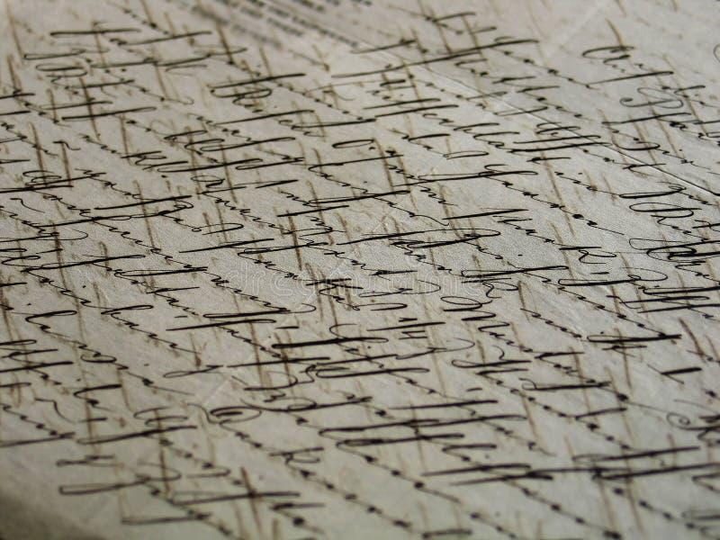 Carta envejecida (vieja escritura) imágenes de archivo libres de regalías