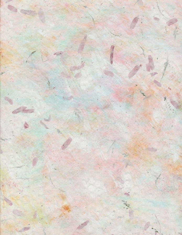 Carta fatta a mano pastello con i fiori ed i semi immagini stock