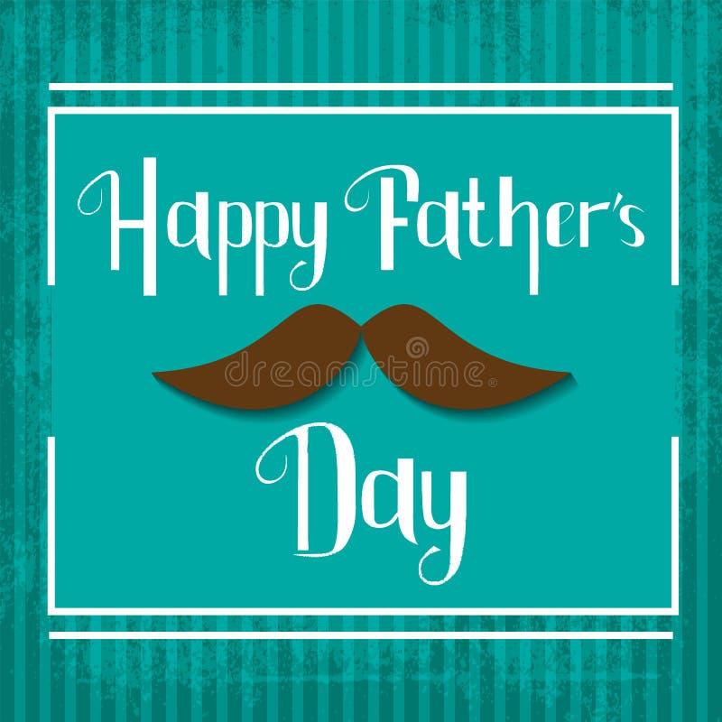 Carta felice di celebrazione di giorno di padri di vettore illustrazione di stock