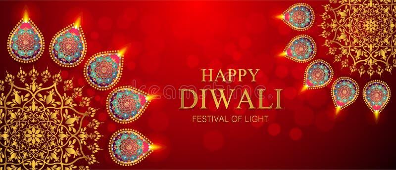Carta felice di festival di Diwali fotografie stock