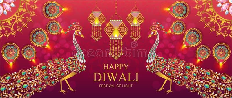 Carta felice di festival di Diwali immagine stock libera da diritti