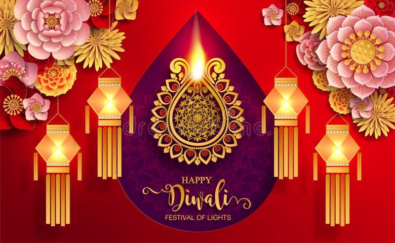 Carta felice di festival di Diwali fotografie stock libere da diritti
