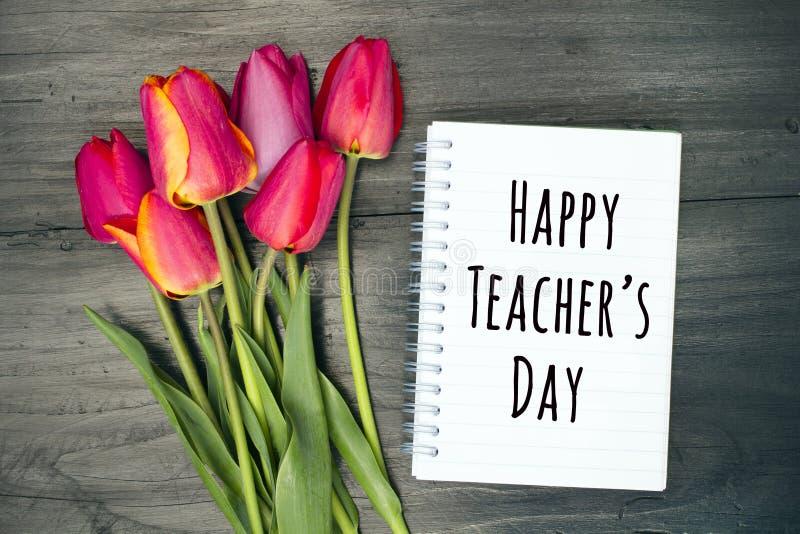 Carta felice di giorno del ` s dell'insegnante immagine stock libera da diritti