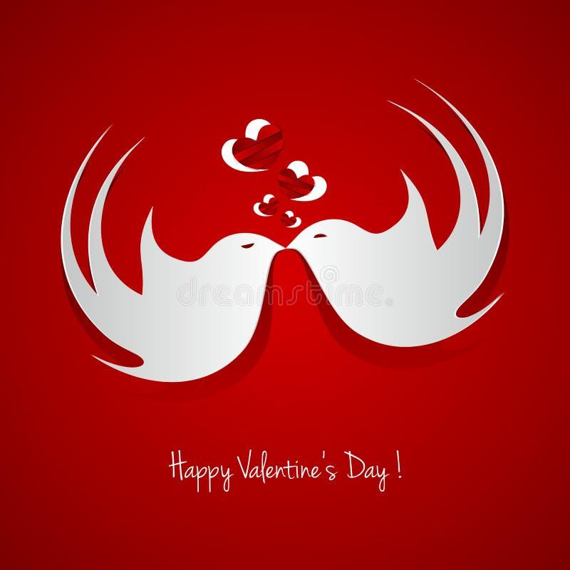 Carta felice di giorno di biglietti di S. Valentino royalty illustrazione gratis
