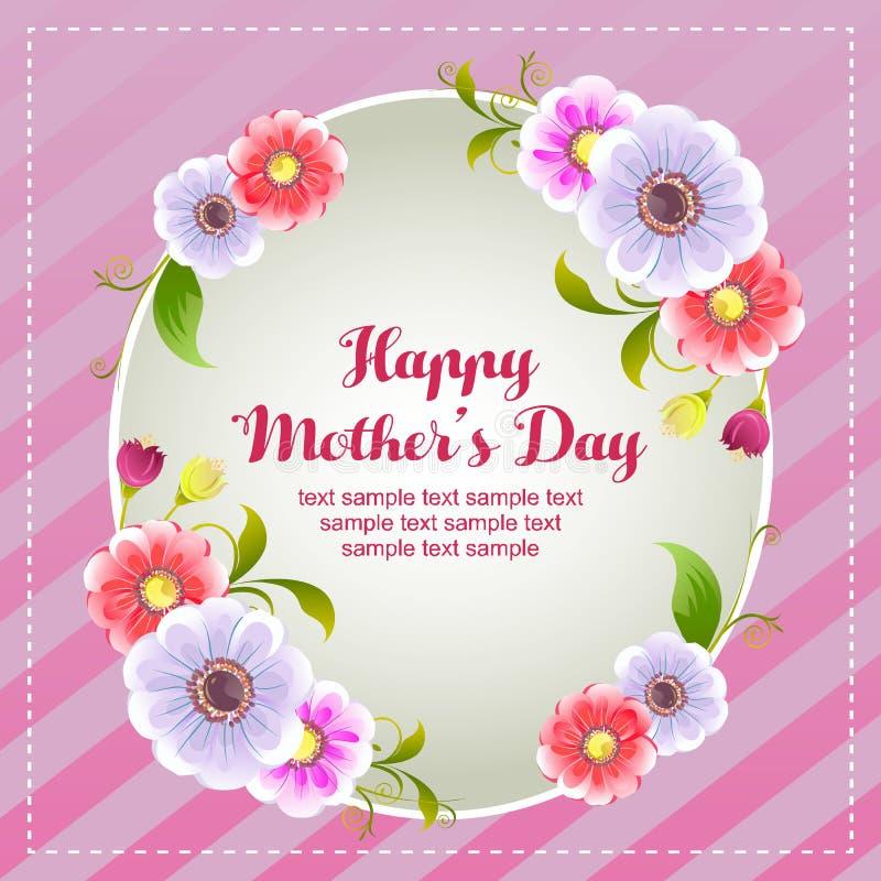 Carta felice di giorno di madre con il fiore royalty illustrazione gratis