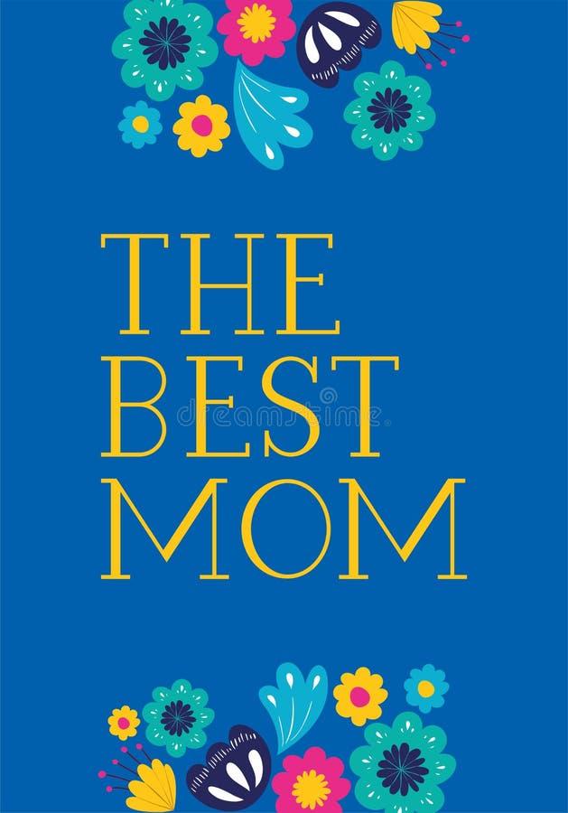 Carta felice di giorno di madri con la decorazione floreale illustrazione di stock