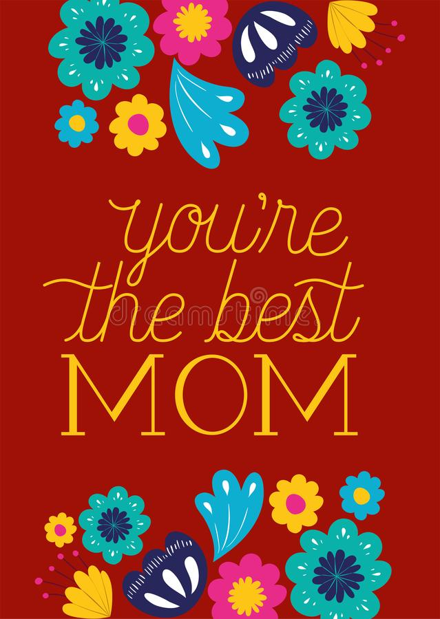 Carta felice di giorno di madri con la decorazione floreale illustrazione vettoriale