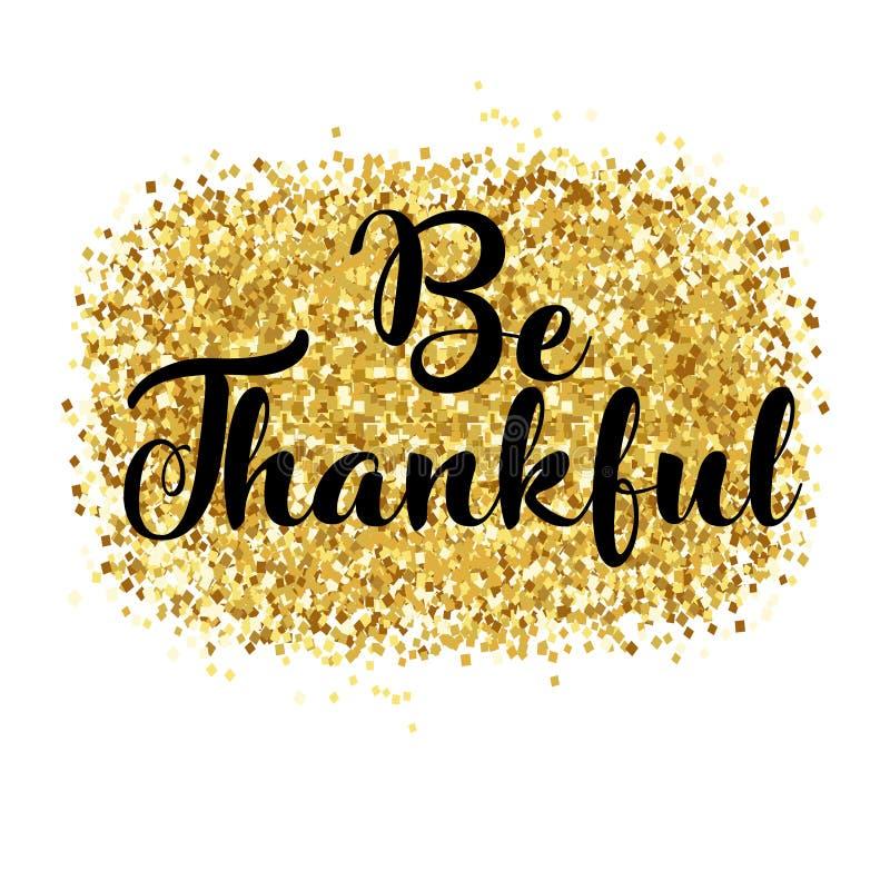 Carta felice di giorno di ringraziamento, riconoscente illustrazione vettoriale
