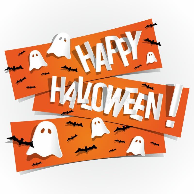 Carta felice di Halloween illustrazione vettoriale