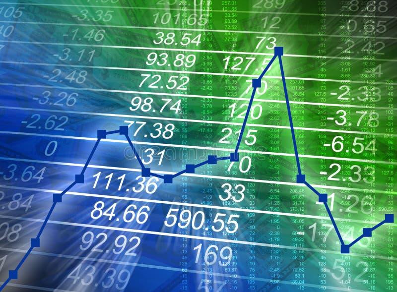 Carta financeira abstrata com números ilustração stock