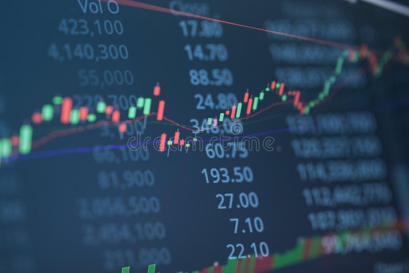 Carta financeira com ascendente gráfico linear tendência imagem de stock
