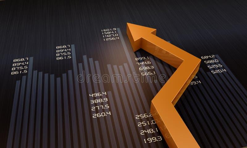 Carta financeira e de negócio ilustração stock