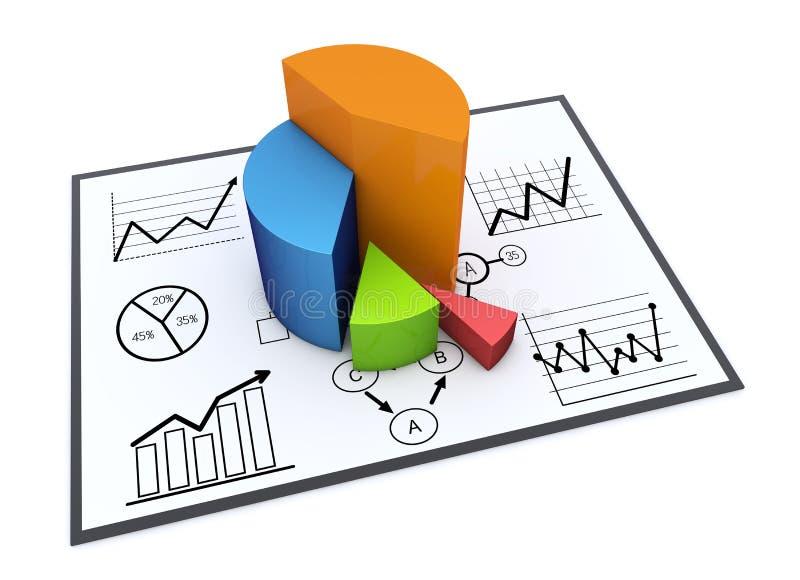 Carta e gráficos ilustração stock