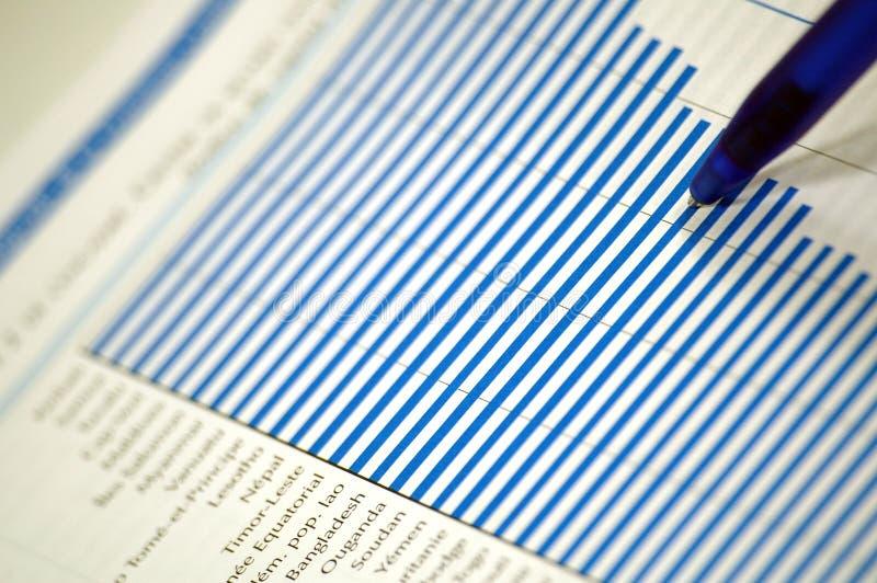 Carta financiera y de asunto imágenes de archivo libres de regalías