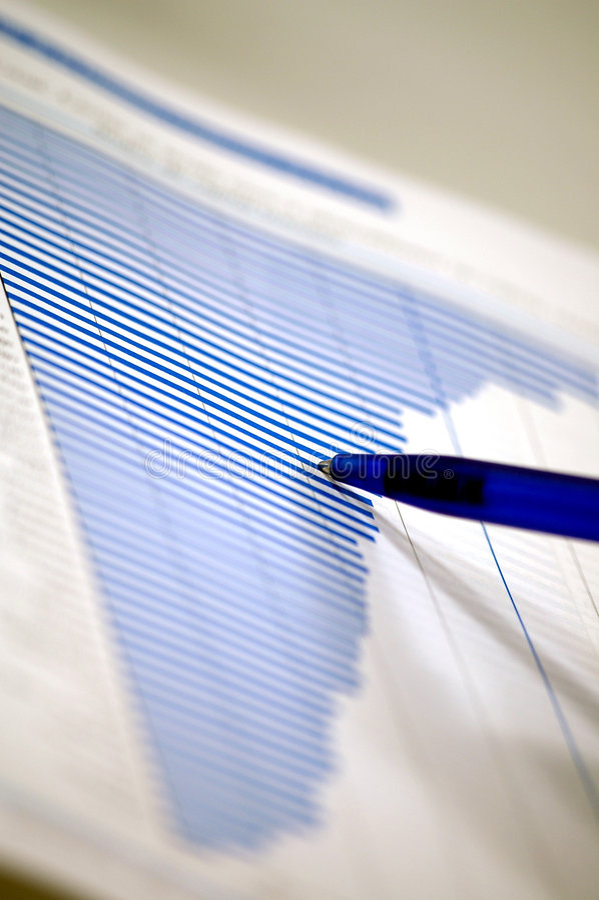 Carta financiera y de los bussines fotografía de archivo