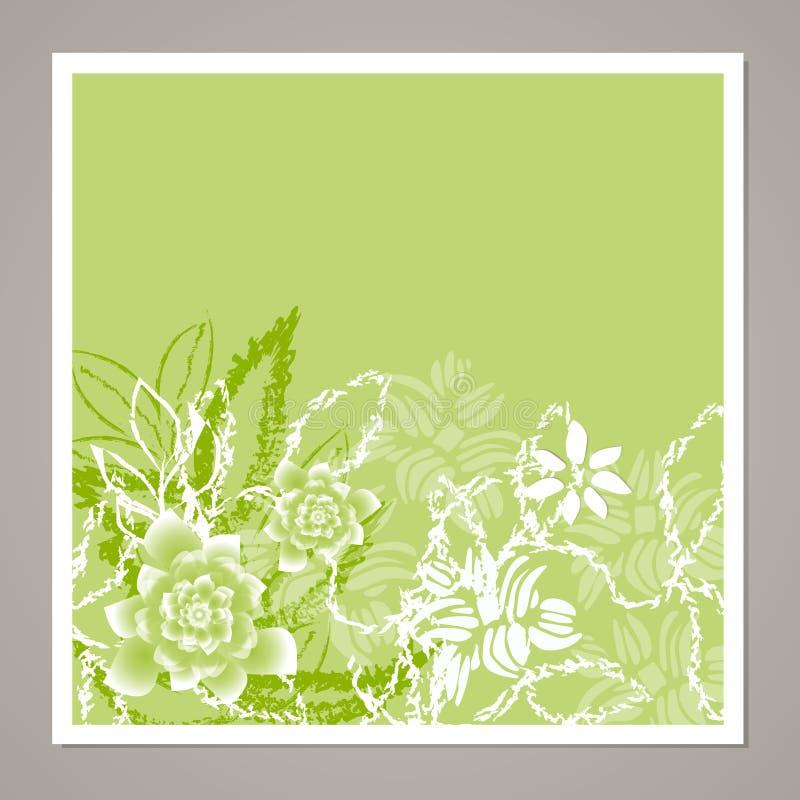 Carta floreale universale creativa Strutture disegnate a mano Nozze, anniversario, compleanno, giorno del ` s di Valentin, inviti illustrazione di stock