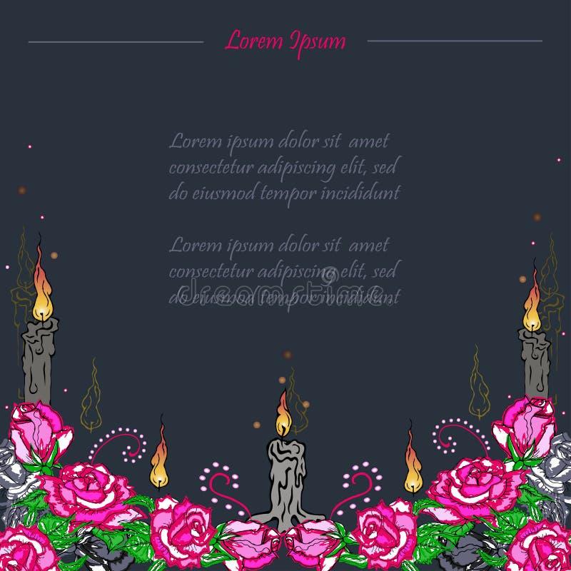 Carta funerea Giorno dei morti royalty illustrazione gratis