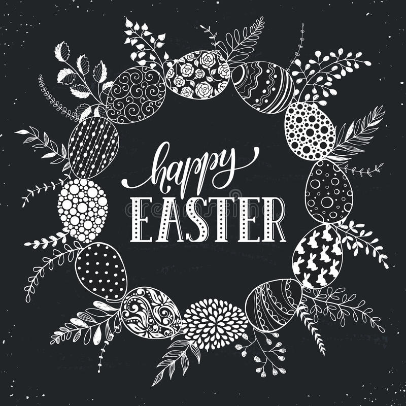 Carta greetting di Pasqua illustrazione di stock