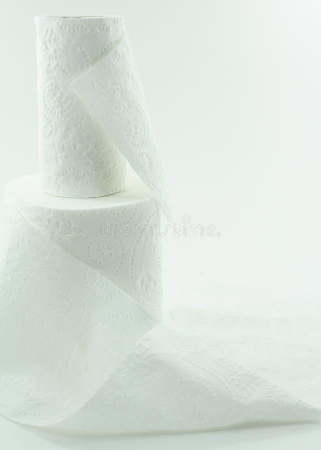Carta igienica bianca fotografie stock