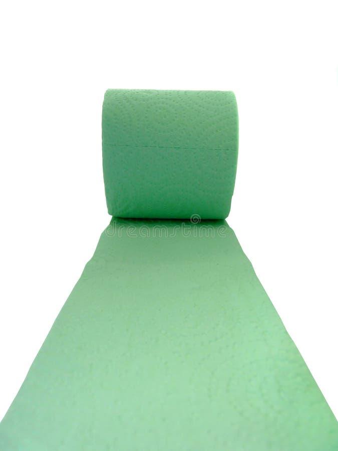 Carta igienica verde isolata su bianco fotografia stock libera da diritti