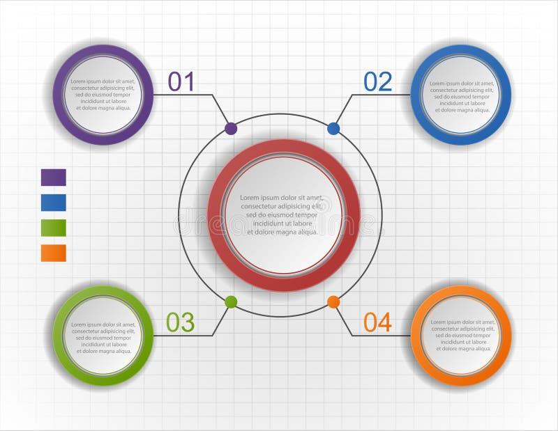 Carta infographic del círculo, diagrama, esquema ilustración del vector