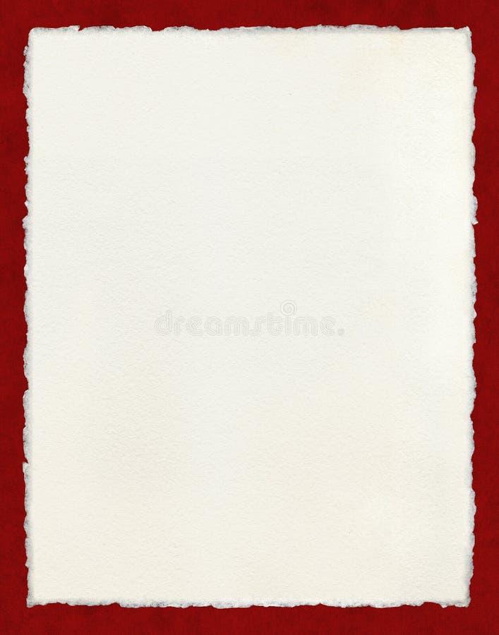Carta irregolare con il confine rosso immagine stock